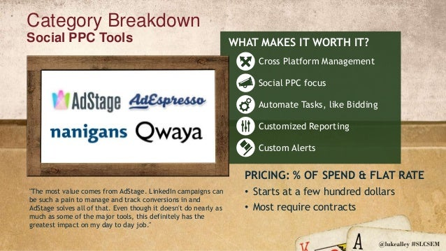 Takeaways with Tools Each tool category provides its own value Some tool categories overlap; reporting, CRO Contract lengt...