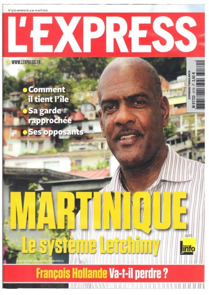 SERGE LETCHIMY DANS L'EXPRESS