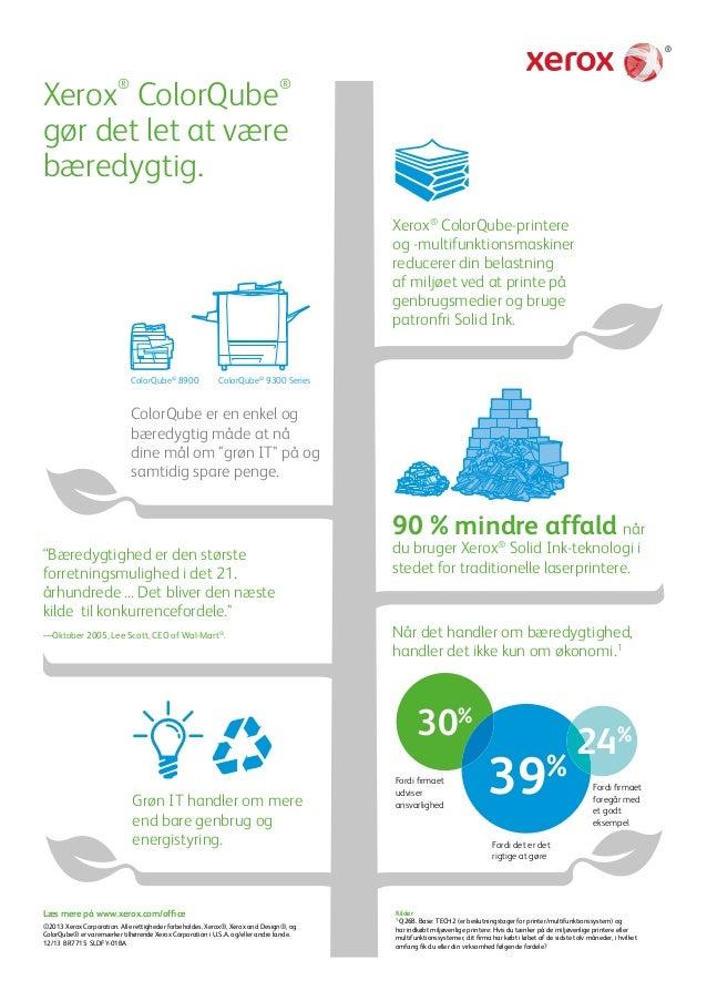 Xerox® ColorQube® gør det let at være bæredygtig.