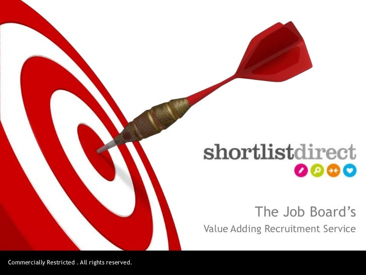 The Job Board's                                                 Value Adding Recruitment ServiceCommercially Restricted . ...