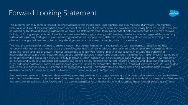 Forward Looking Statement This presentation may contain forward-looking statements that involve risks, uncertainties, and ...