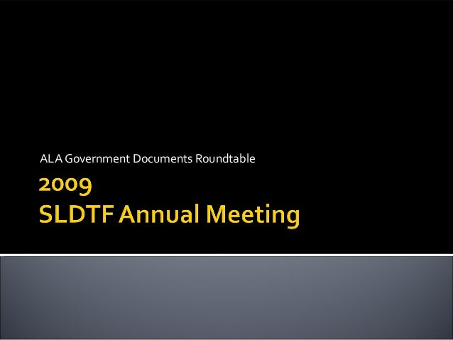ALA Government Documents Roundtable