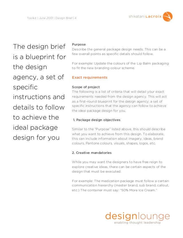 Creating the perfect design brief brief 3 5 pronofoot35fo Image collections