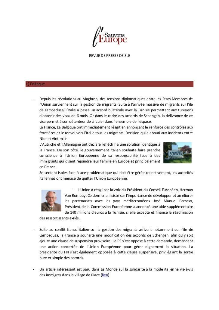 REVUE DE PRESSE DE SLEI ) Politique    -    Depuis les révolutions au Maghreb, des tensions diplomatiques entre les Etats ...