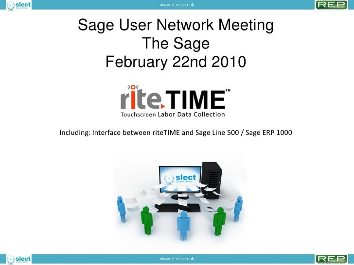 <p><strong>Slide 1: </strong>                              www->sl-ect->co->uk         Sage User Network Meeting ...