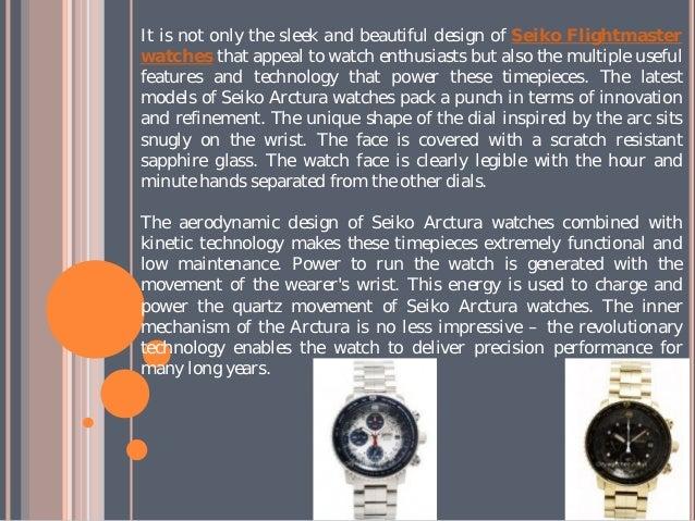Sleek and beautiful design of seiko arctura watches Slide 3