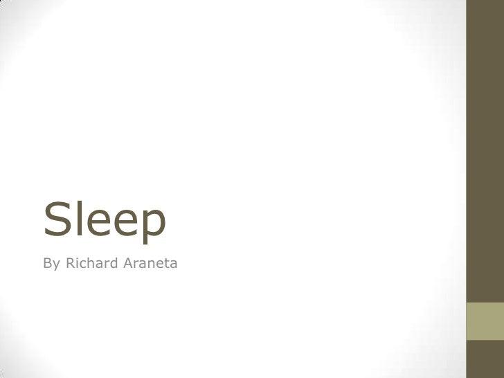 SleepBy Richard Araneta