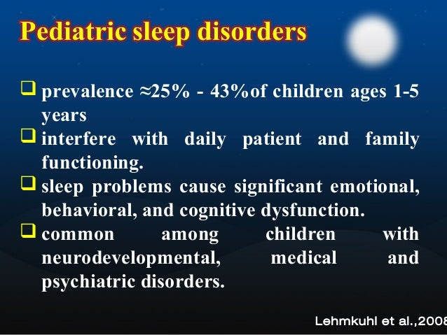 Childrens Sleep Problems Linked To >> Pediatric Sleep Disorders