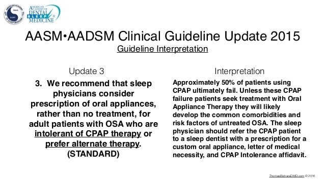 Sleep Apnea Snoring Clinical Guideline Update 2016
