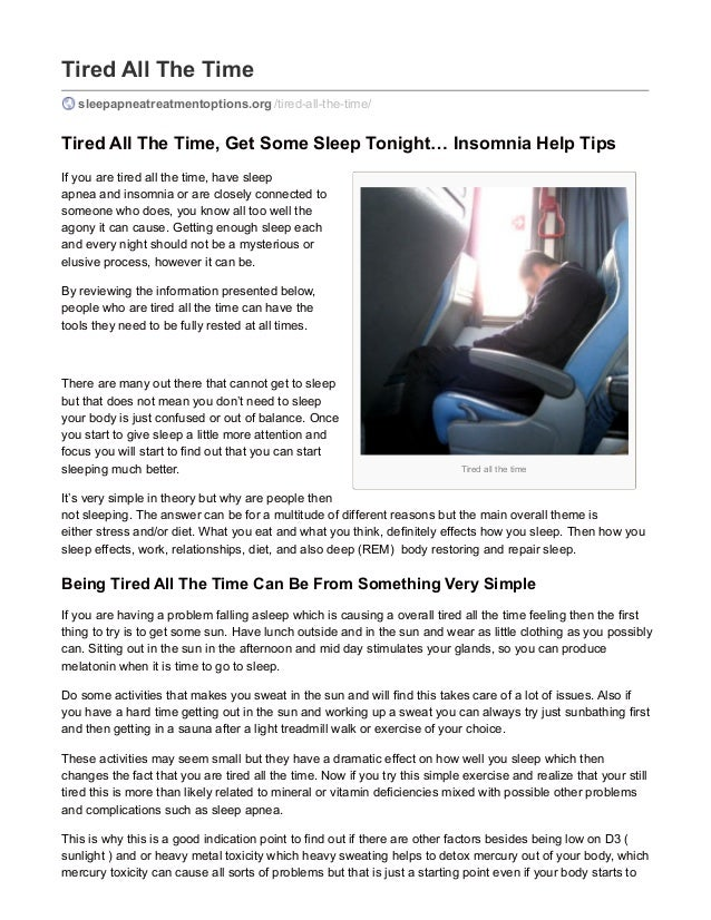 how to not feel tired all the time