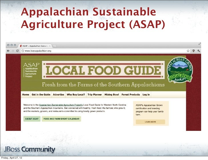 Appalachian Sustainable                   Agriculture Project (ASAP)Friday, April 27, 12