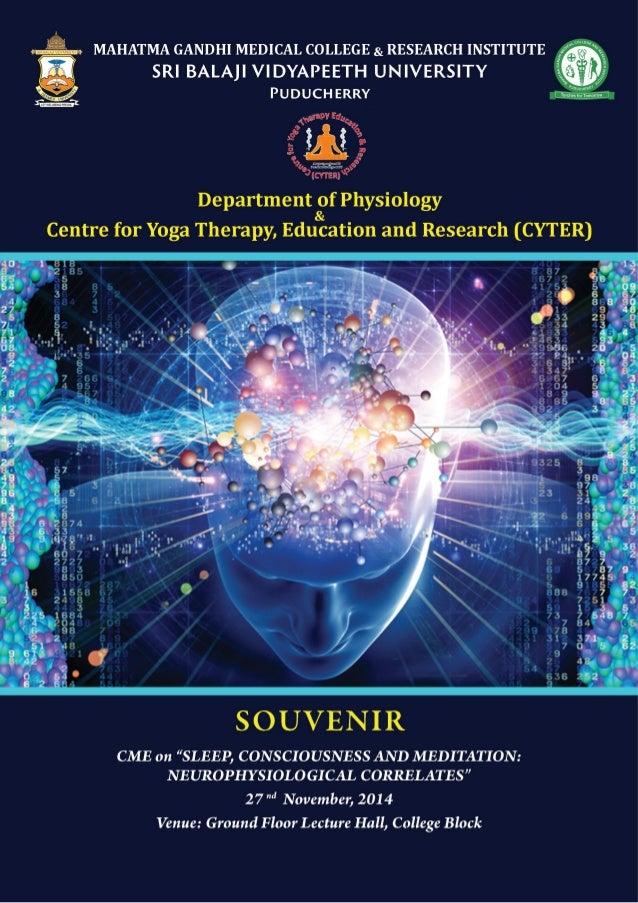 Department of Physiology & CYTER, MGMCRI - Puducherry | 3  Chief Patron  Shri MK Rajagoplan  Chairman, Sri Balaji Educatio...