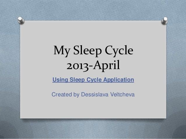 My Sleep Cycle 2013-April Using Sleep Cycle Application Created by Dessislava Veltcheva