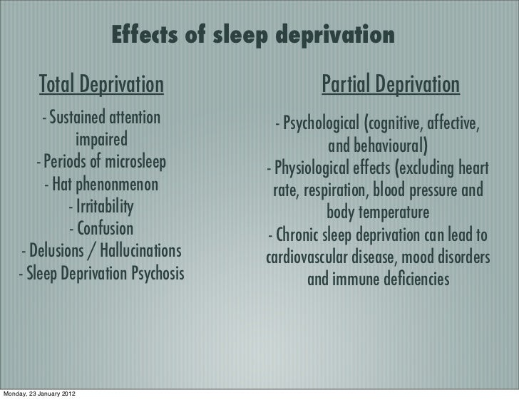 how sleep deprivation affects psychological variables The effects of sleep deprivation on cognitive perfor- mance and on psychological variables related to cognitive perfor- mance were studied in 44 college students.