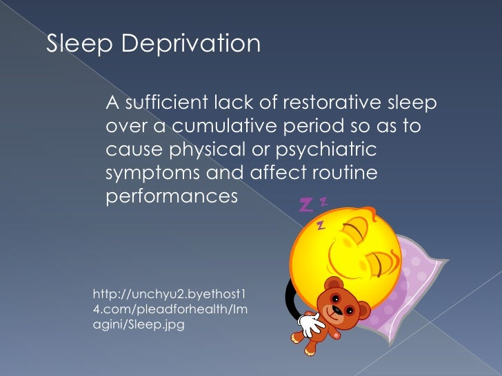 a look at the prevalence and severity of sleep deprivation Factors that were cited for these statistics sleep-deprivation concerns of today, and also look at potential enduring severe sleep deprivation.