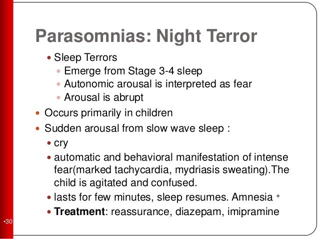 parasomia psychological distractions during sleep stages