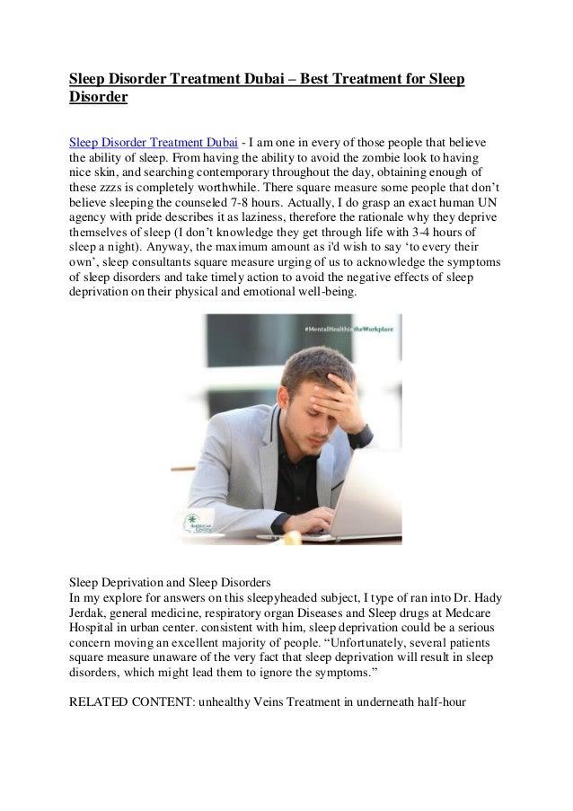 Sleep disorder treatment Dubai - Best treatment for sleep disorder