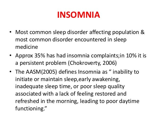 Sleep order and disorders