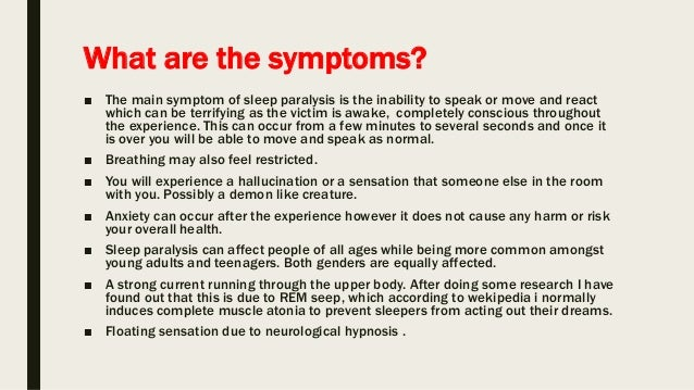 Sleep paralysis research