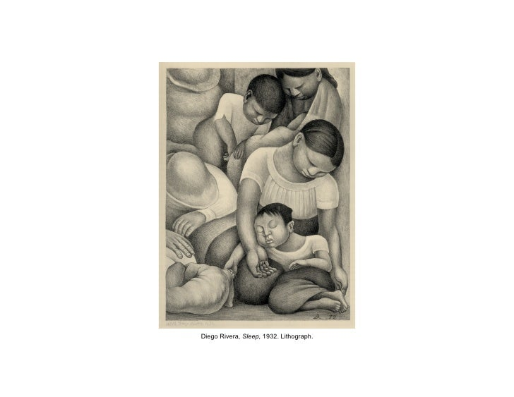 Diego Rivera, Sleep, 1932. Lithograph.