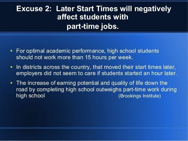 the impact of early school start times on teens