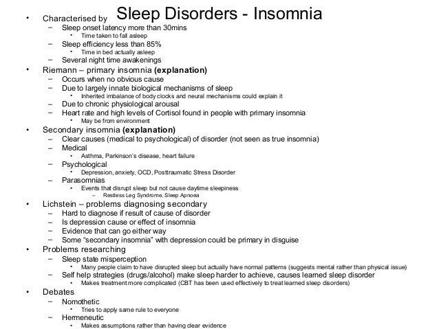 Essay sleep disorders