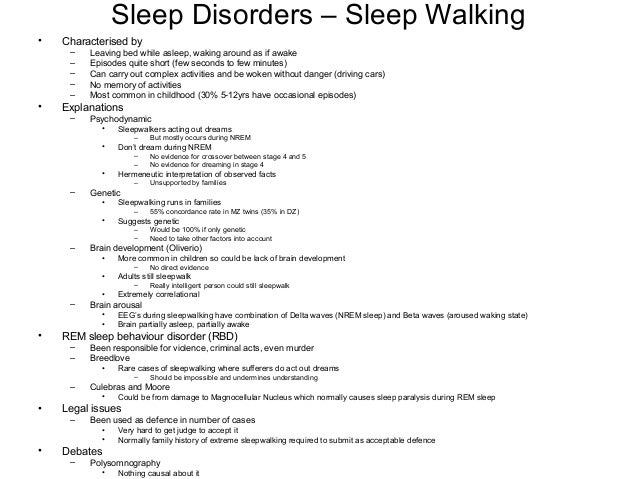 Thesis statement for sleep disorders