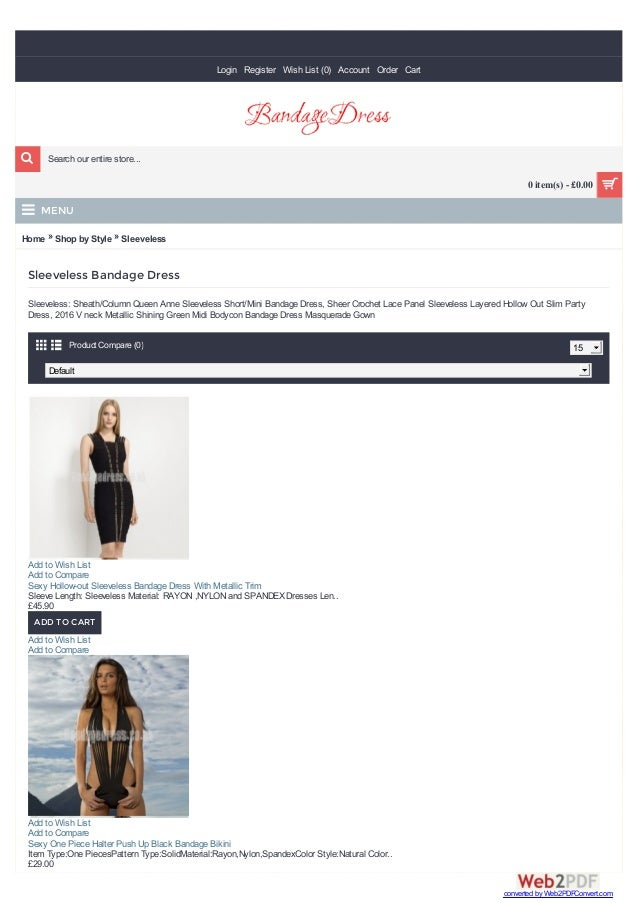 Home » Shop by Style » Sleeveless Sleeveless Bandage Dress Sleeveless: Sheath/Column Queen Anne Sleeveless Short/Mini Band...