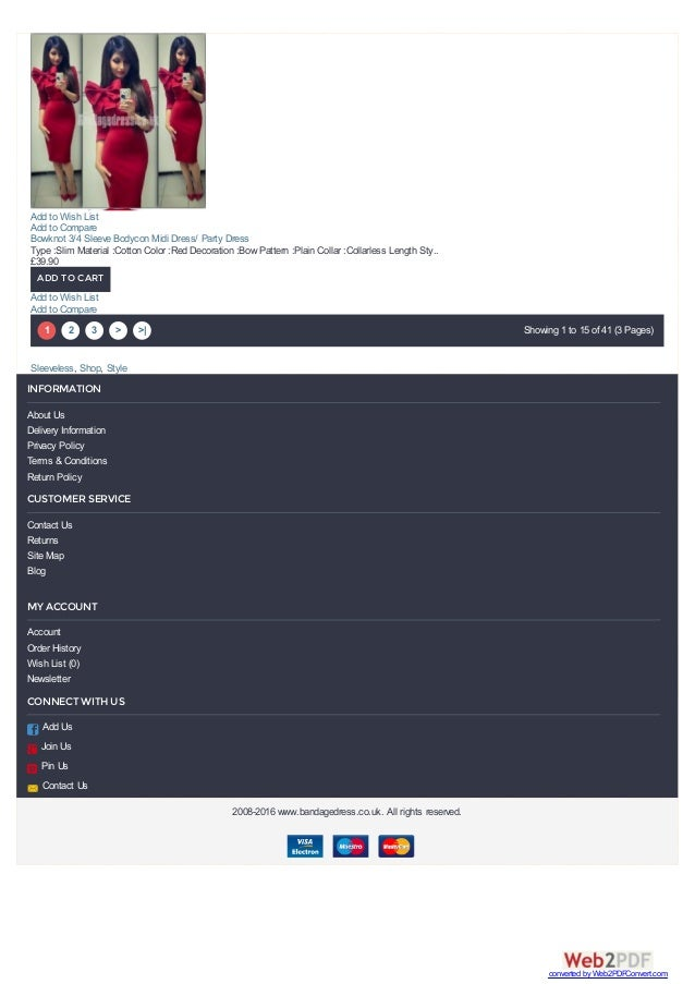 1 2 3 > >  Showing 1 to 15 of 41 (3 Pages) Sleeveless, Shop, Style Bowknot 3/4 Sleeve Bodycon Midi Dress/ Party Dress Type...