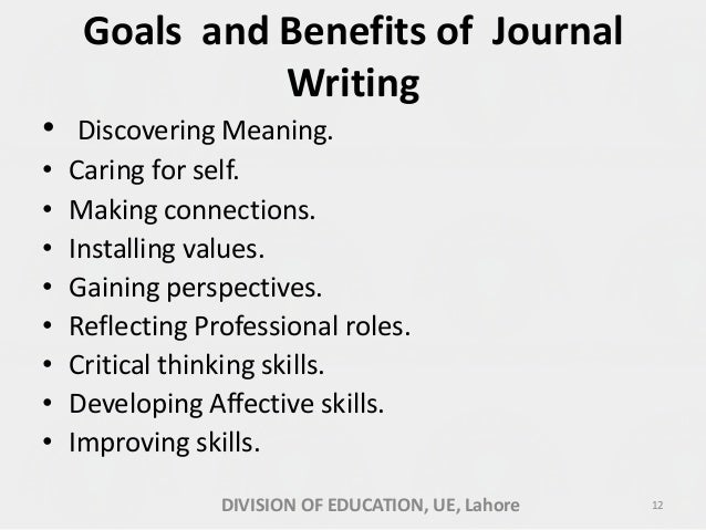 Benefits of journal writing