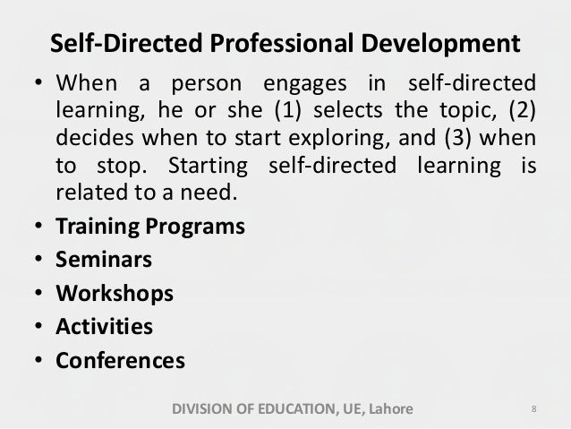 Self directed growth (professional development)