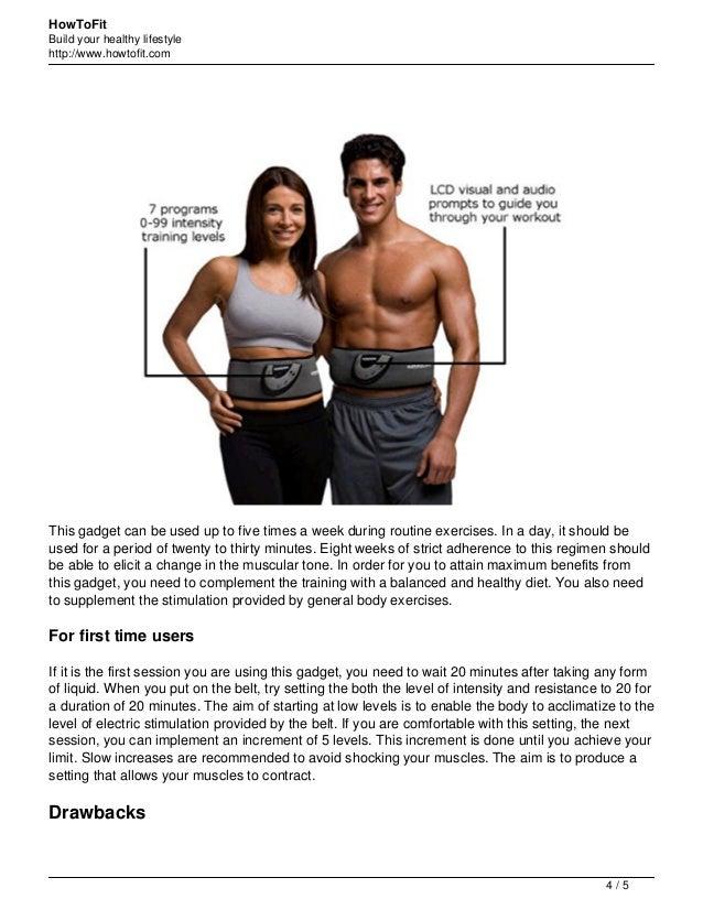 Slendertone 7 program abdominal muscle toning belt review