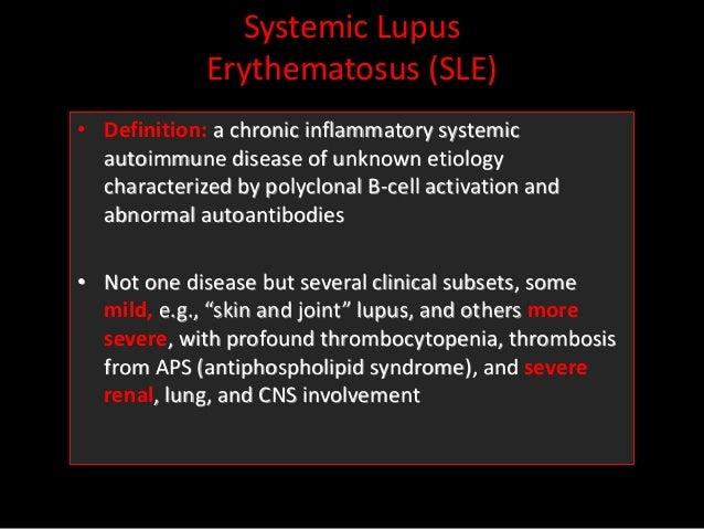 SYSTEMIC LUPUS ERYTHEMATOSUS Sle pathophysiology and management Slide 3