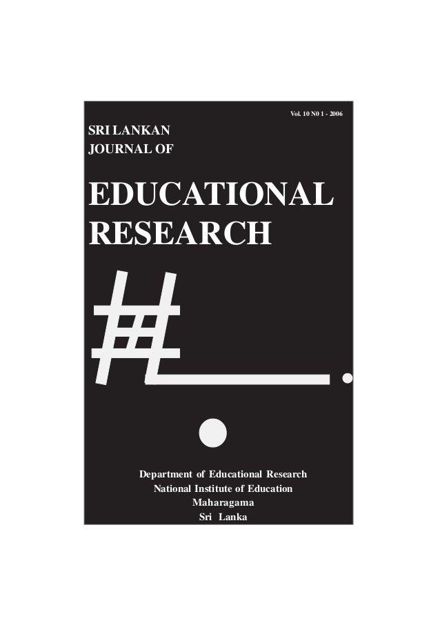sri lankan journal of educational research