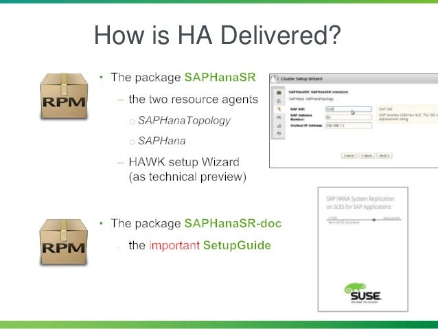 Faster Installation SAP Installation Wizard High Availability SAP Netweaver & SAP HANA Reliable, Stable & Secure Operating...