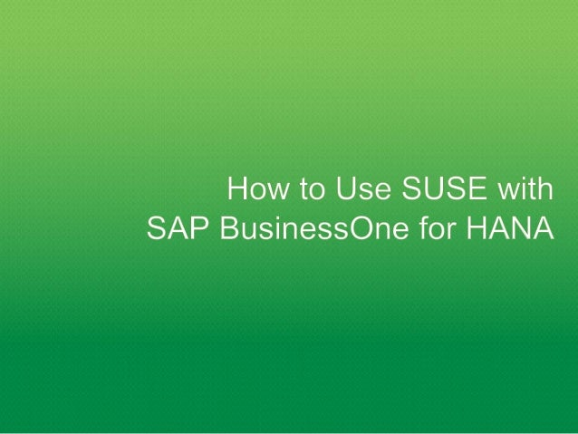 Working With SUSE
