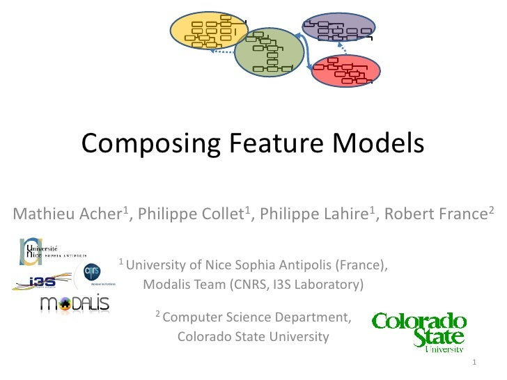 Composing Feature Models  Mathieu Acher1, Philippe Collet1, Philippe Lahire1, Robert France2                1 University  ...