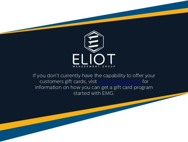 13 - Gift Card Program For Small Business