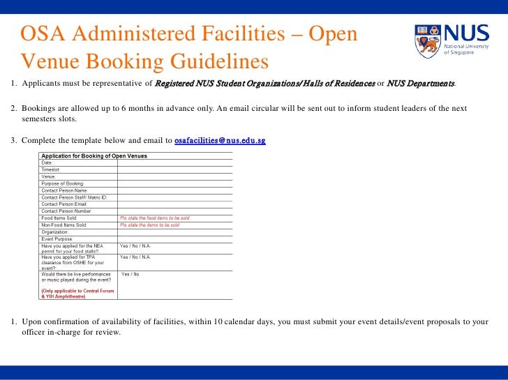 slic2010)_guidelines_facilitiesbooking, Presentation templates