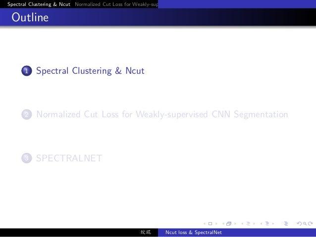 SpectralNet and Ncut Loss Slide 3