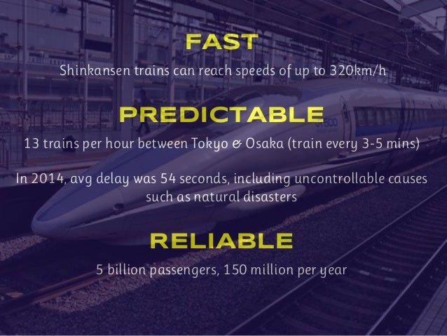 You can't just make a train faster or more reliable. You must create a network for fast, reliable trains.