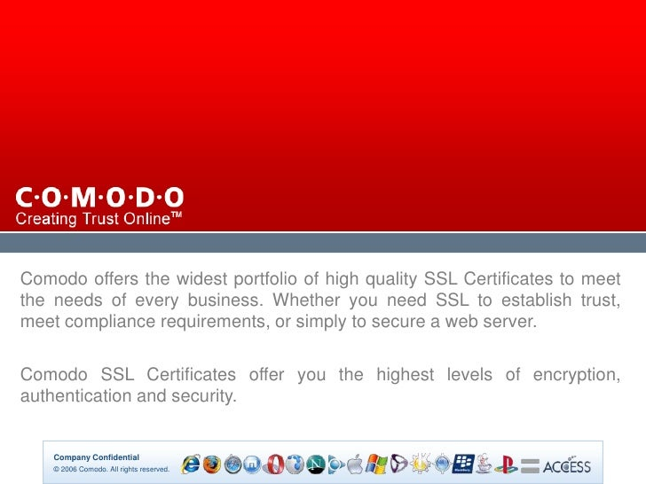 Slide 1 Authenticated Reseller Ssl Certificate Authority