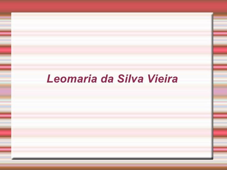 Leomaria da Silva Vieira