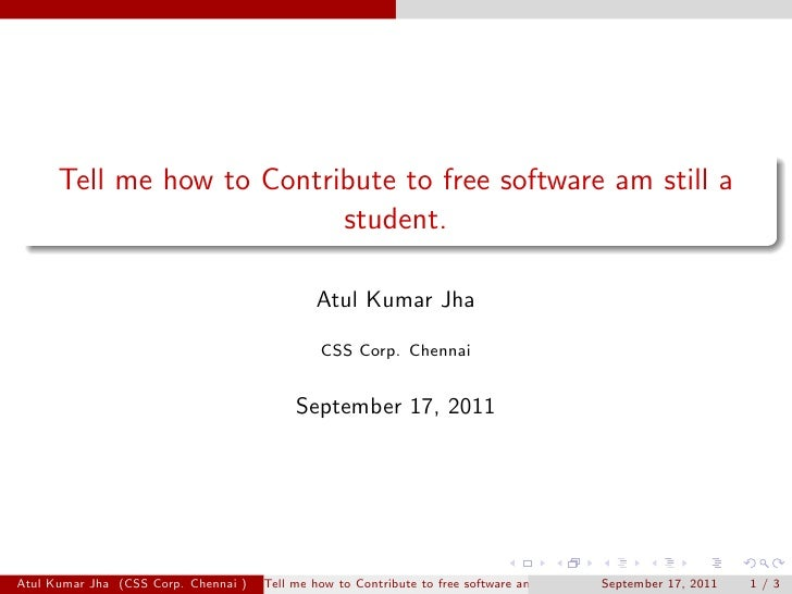 Tell me how to Contribute to free software am still a                           student.                                  ...