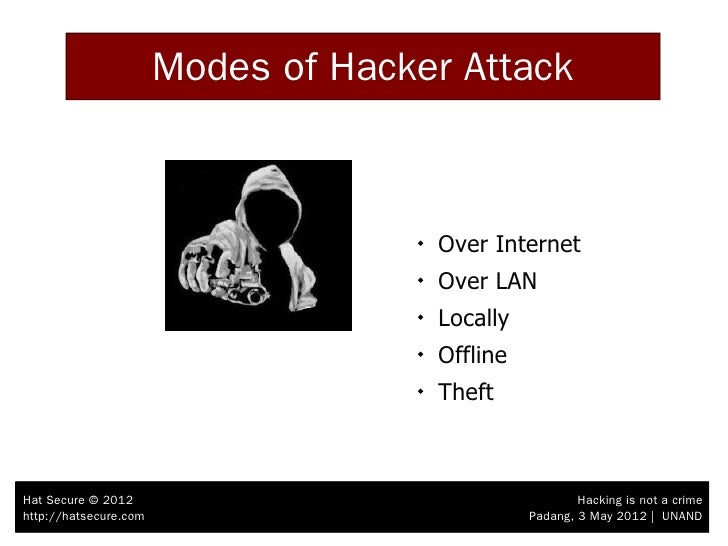 hacking is not a crime Hackers are criminals, right you certainly get that impression from the business  media run a google search on 'hackers' and you'll find a.