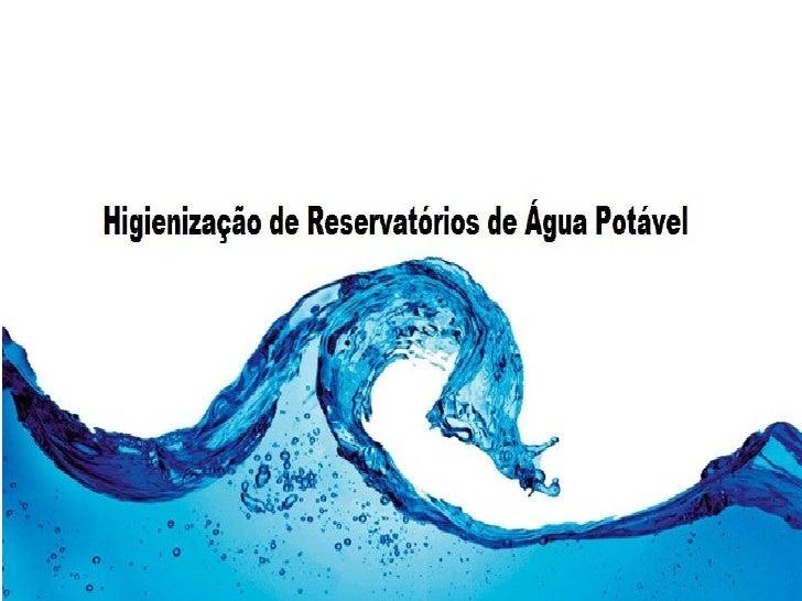Procedimento para limpeza de reservatório de água. Antes da execução da limpeza com antecedência de pelo menos três dias, ...