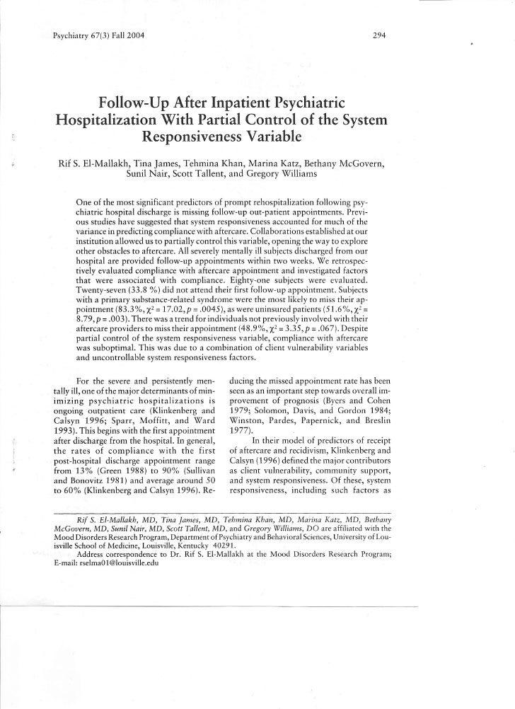 Psychiatry 67(3) Fail 2004                                                                       294               Follow-...