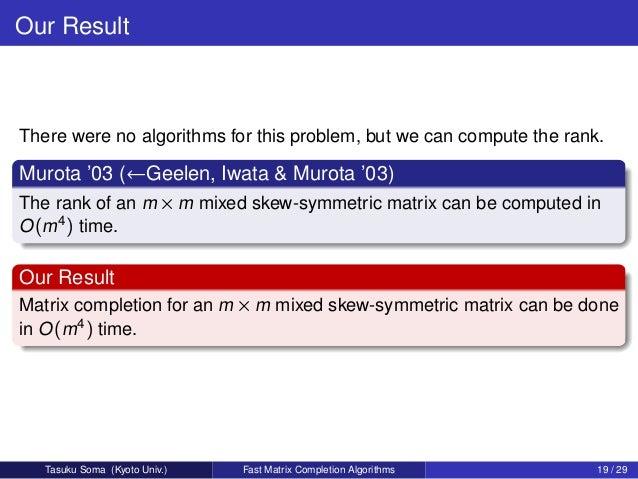 rank of skew symmetric matrix pdf