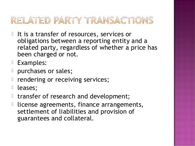 Ias 24 Related Parties Disclosure