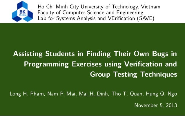 Ho Chi Minh City University of Technology, Vietnam Faculty of Computer Science and Engineering Lab for Systems Analysis an...